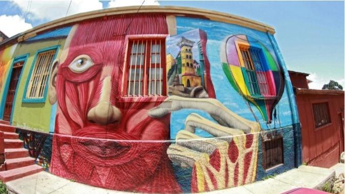 Graffitis Murales Valparaiso