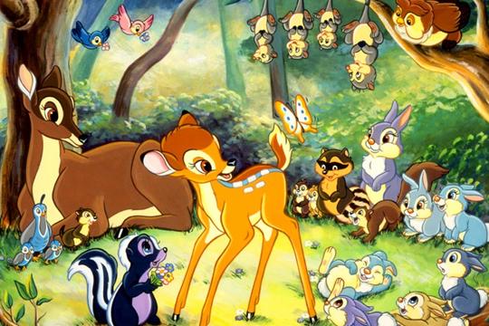 Walt Disney đã lấy ý tưởng của mình cho bộ phim hoạt hình nổi tiếng Bambi, khi đến thăm những khu rừng ở Patagonia.