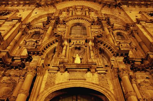 The beautiful Iglesia de la Compania de Jesus in Cordoba's Jesuit block.