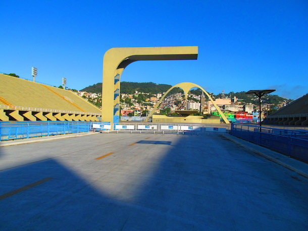 The Sambadrome in Rio during the day