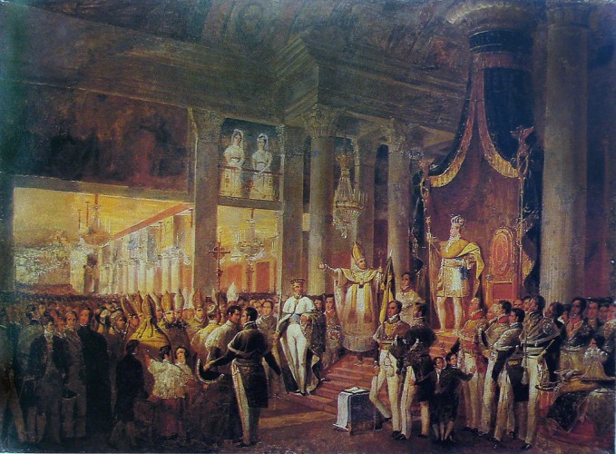 The Brazilian Royal Family was urged by the people to join the festivities from their summer palace