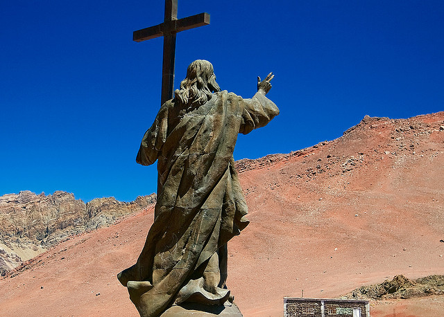 The famous Christ the Redeemer of the Andes statue