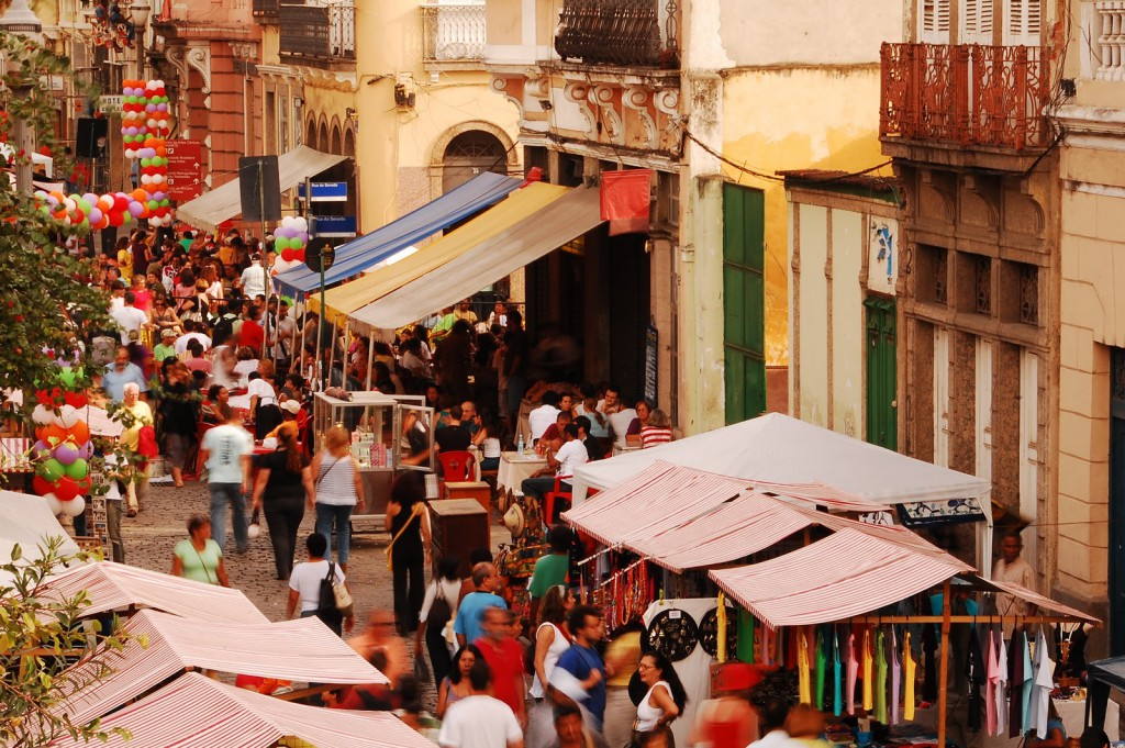 Feria Rio Antigo is held on the first Saturday of the month