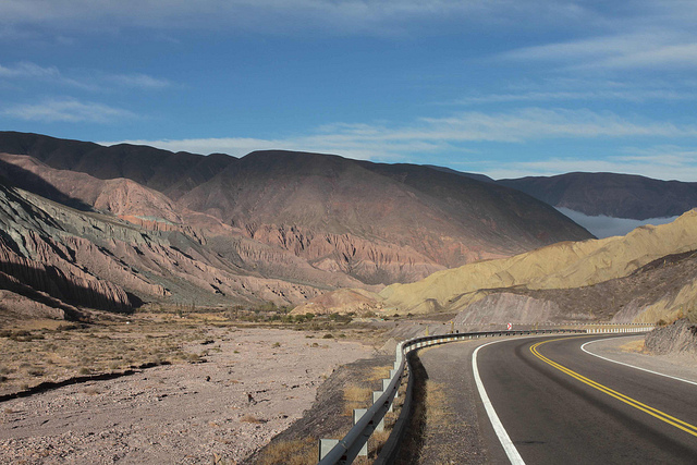 The route to Jujuy takes you past stunning scenery