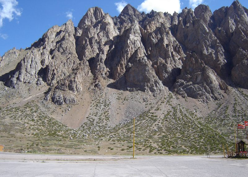 The Potrerillos Dam, an important development for hydroelectricity, irrigation and flood control in this area