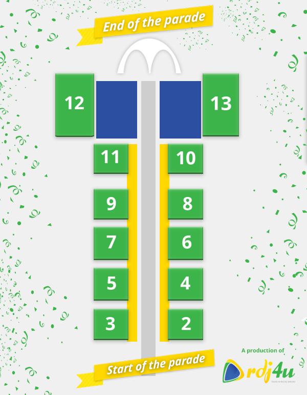 Sambadrome Seating Plan