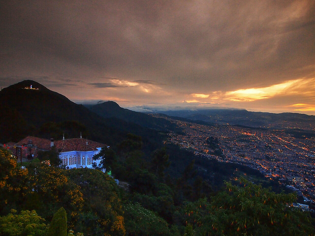 Admire the breathtaking views of the capital city from atop Monserrate