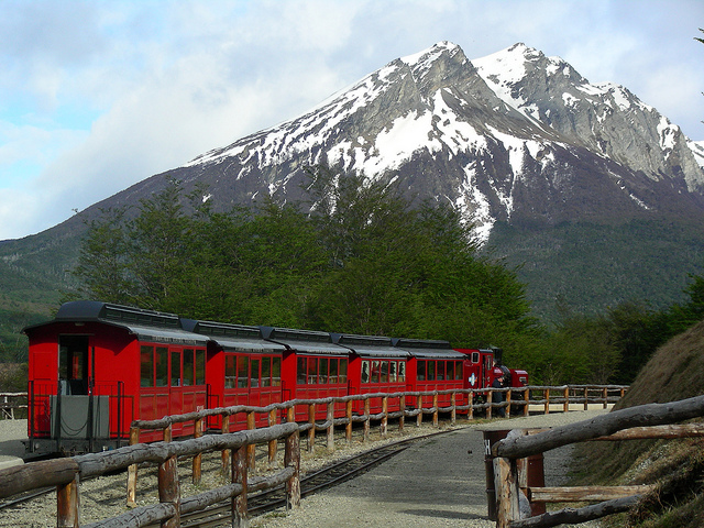 The End of the World Train, ready to leave the station.