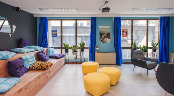 The chill out area for students