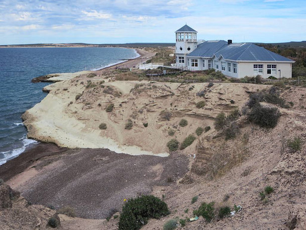 The Ecocentro perched on the coast of Puerto Madryn
