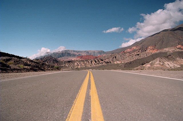 A road through the landscapes of Northern Argentina