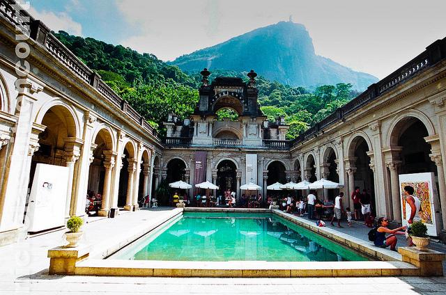 Parc Rio : Superbe petit parc avec vue directe sur le Christ rédempteur