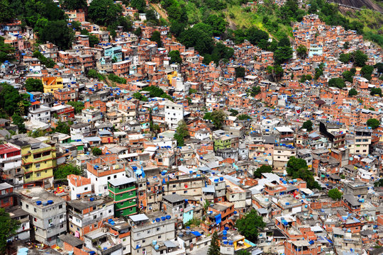 La favela Rocinha- La plus grande de Rio
