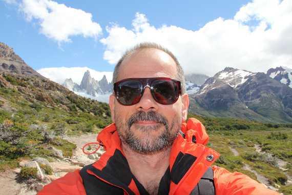 Selfie devant le Mont Fitz Roy / source