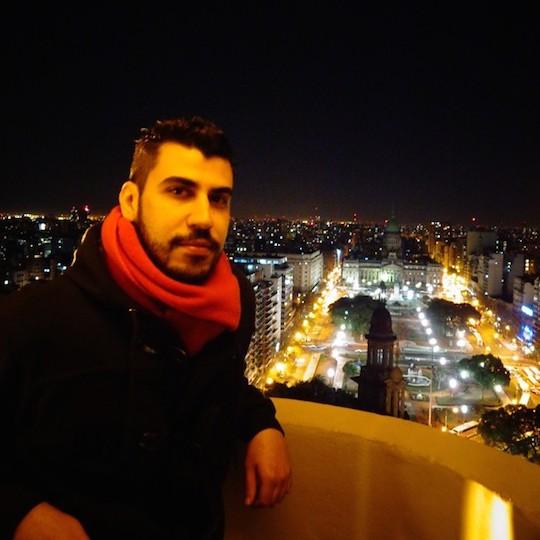 Selfie en haut du Palacio Barolo / source