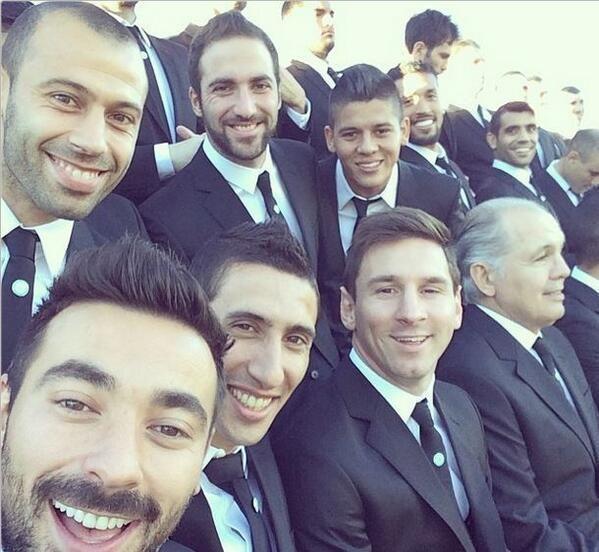 Selfie de l'équipe de football argentine / source