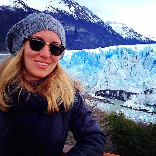 Selfie au Perito Moreno / source